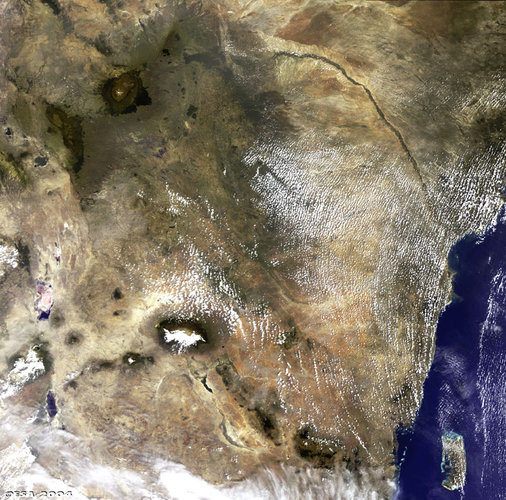 Kenya as seen by ESA's Envisat