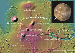 Image result for mars Arsia Mons volcano
