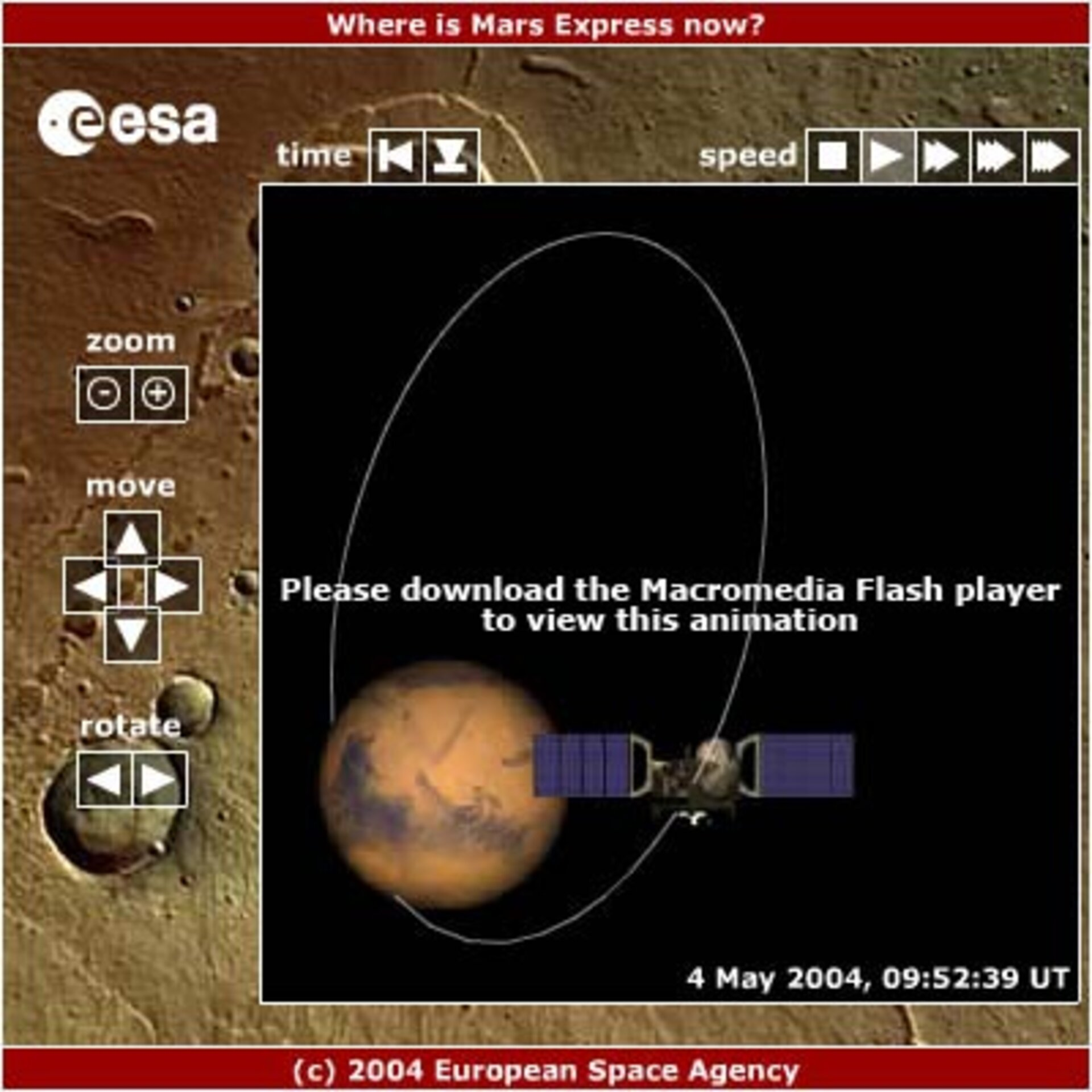 Mars Express orbiting Mars