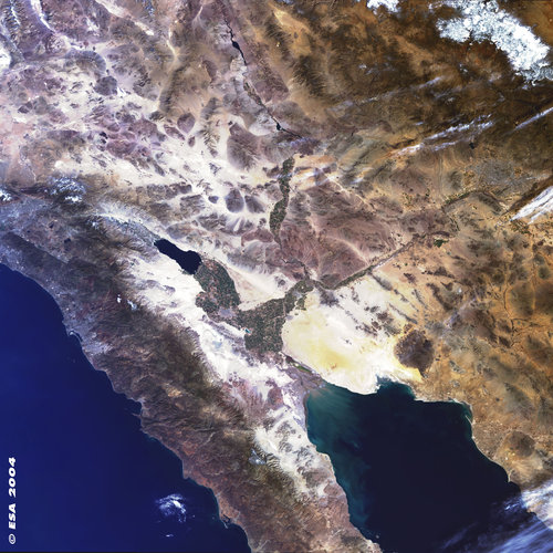 Northwest Mexico  - MERIS - 8 February 2004