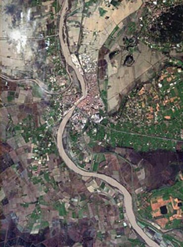 Proba image of Arles flood zone in France