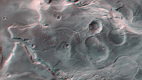 Anaglyph image of Mangala Valles