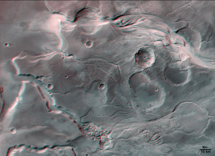 3D  image of Mangala Valles