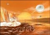 Artist's rendition of the surface of Titan
