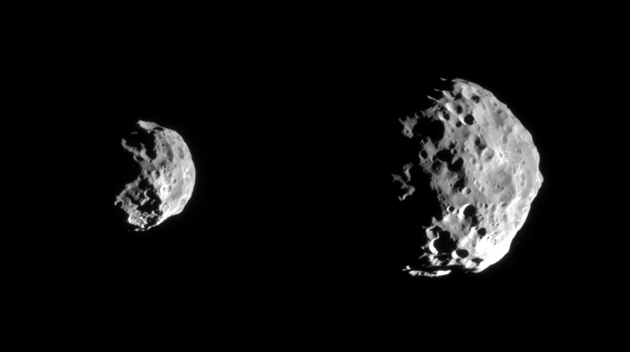 Cassini's flyby of Phoebe shows a moon with a battered past