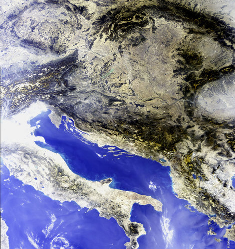Central South-East Europe - MERIS - 21 September 2003