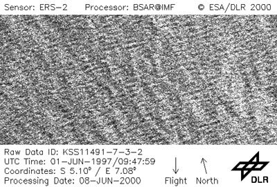 Example of an imagette from ERS-2