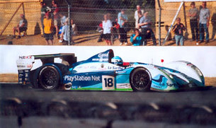 Pescarolo Sport's racing car no.18 at Le Mans 2004