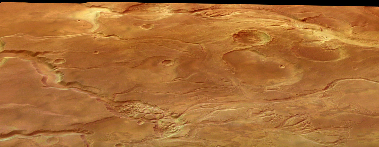 Perspective view of Mangala Valles