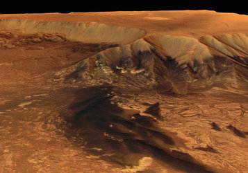 Perspective view of Melas Chasma