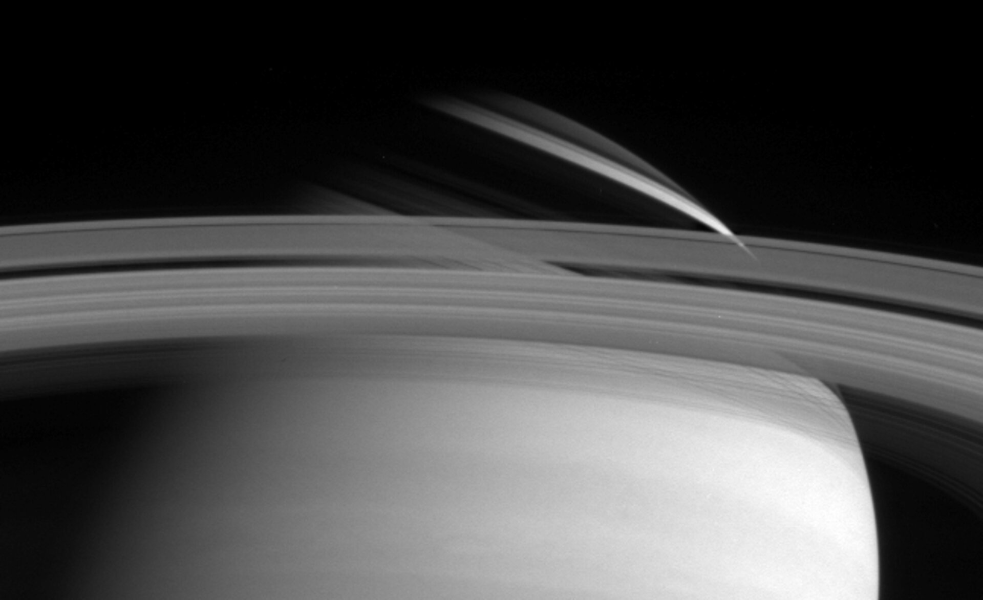 Shadow cast by Saturn's rings