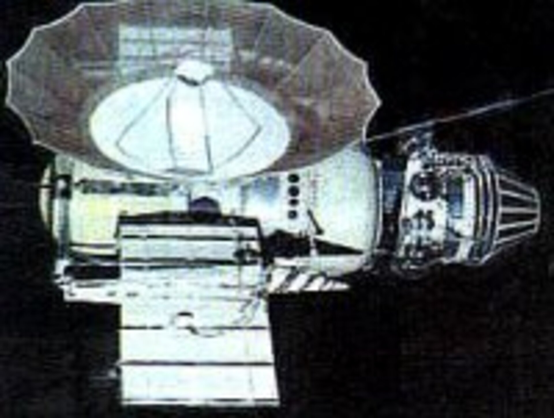 Venera 4, the first spacecraft to return data about the atmosphere of Venus