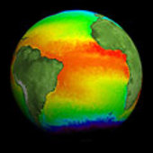 Atlantic ocean  seen by Envisat AATSR