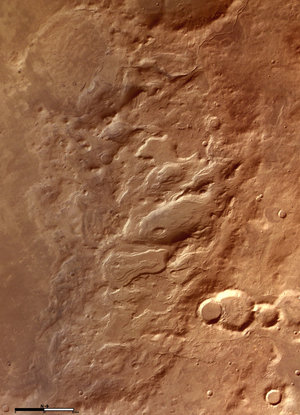Colour image of Hellas basin rim