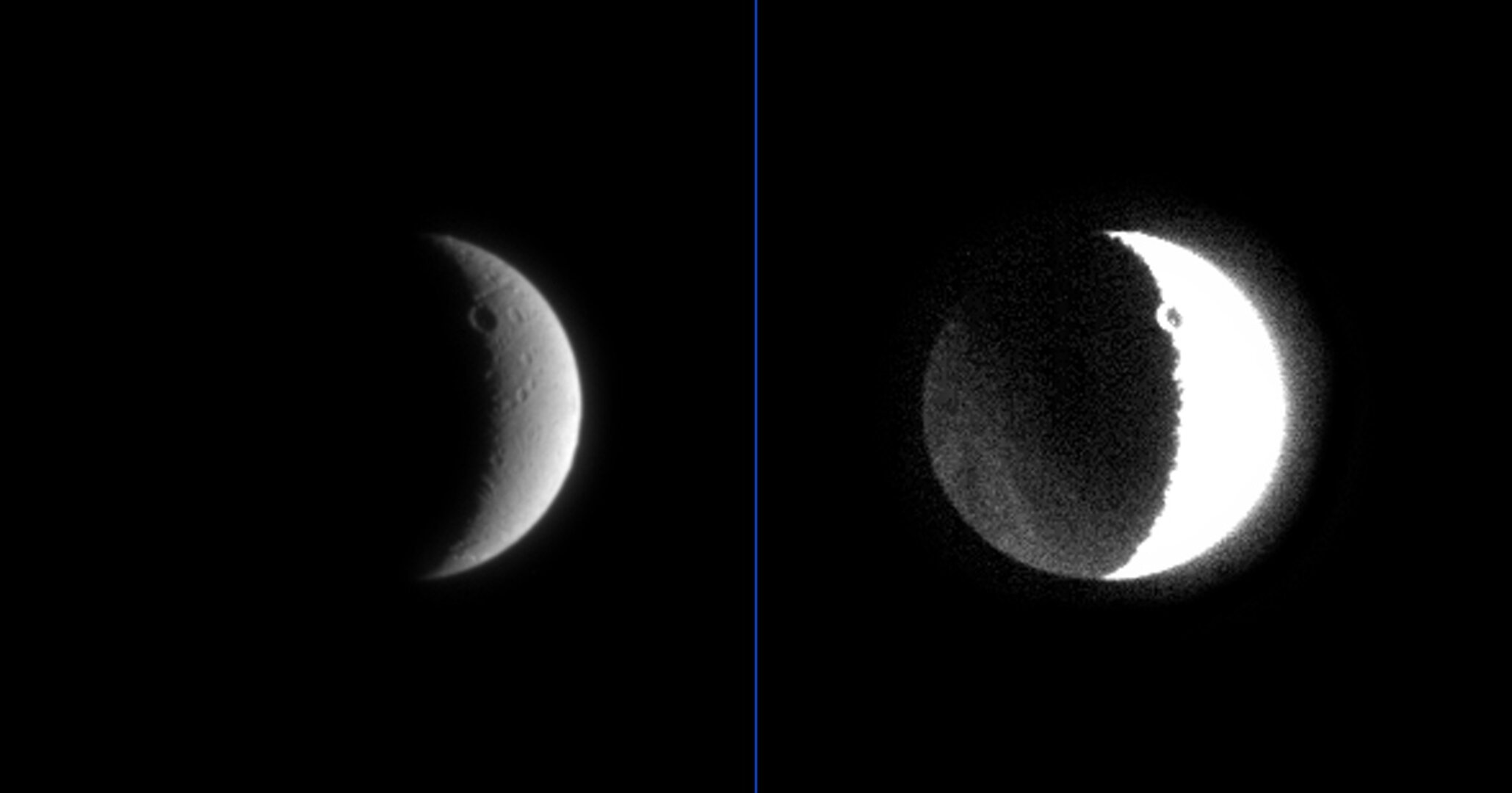 Dark side of Dione