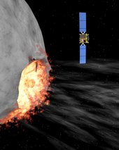 Hidalgo impacts with the asteroid