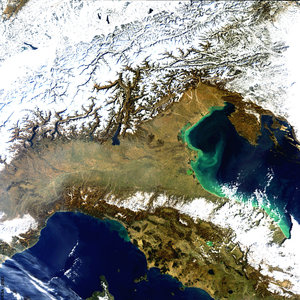 Italy Snow - MERIS - 4 March 2004
