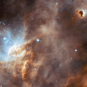 N11B star-forming region, in the Large Magellanic Cloud