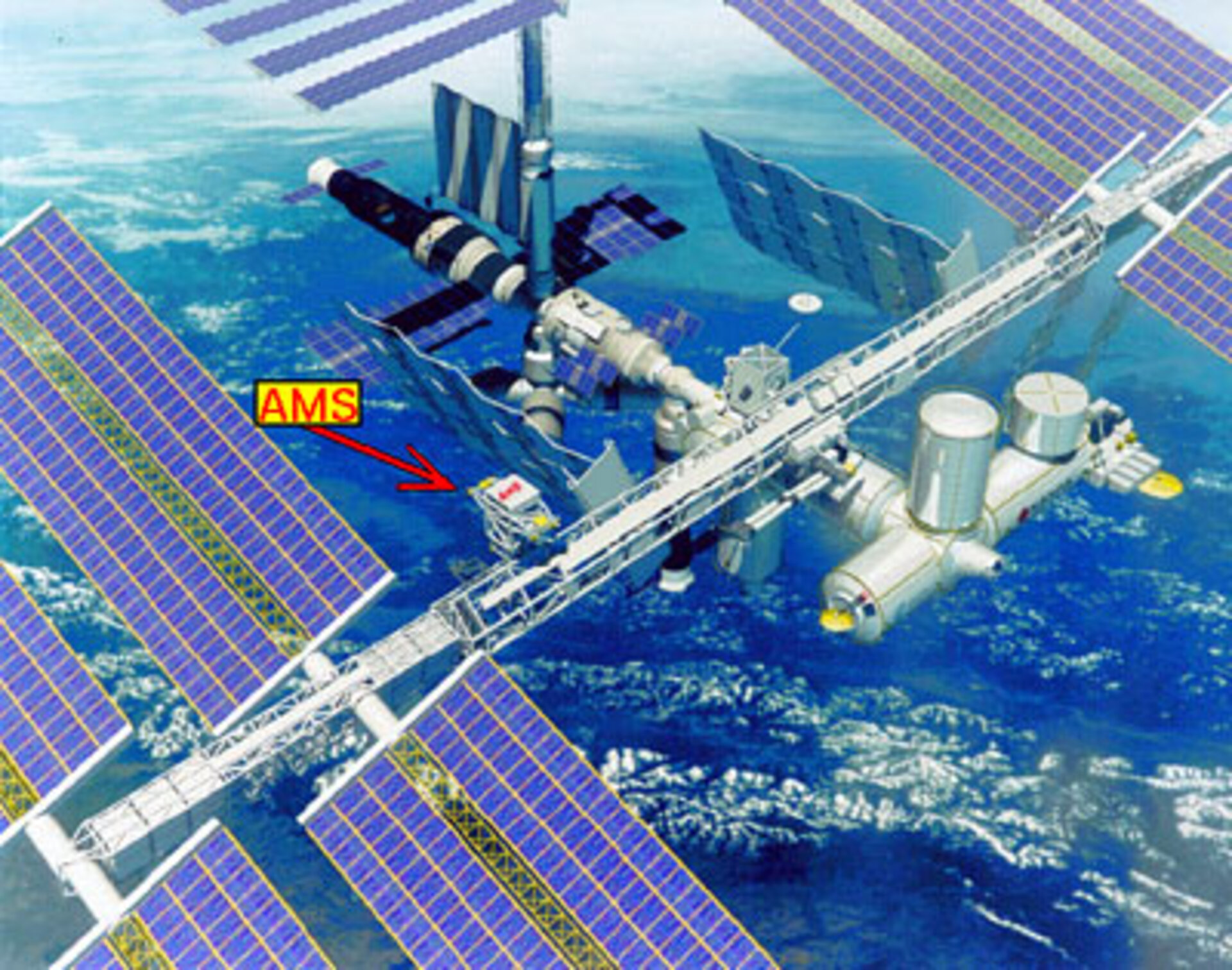 AMS will be installed on the ISS central truss