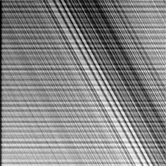 Saturn's rings - 1 July 2004