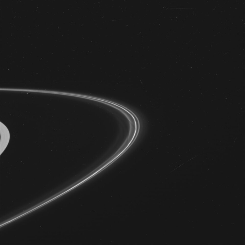 The mysterious F ring, wide-angle view