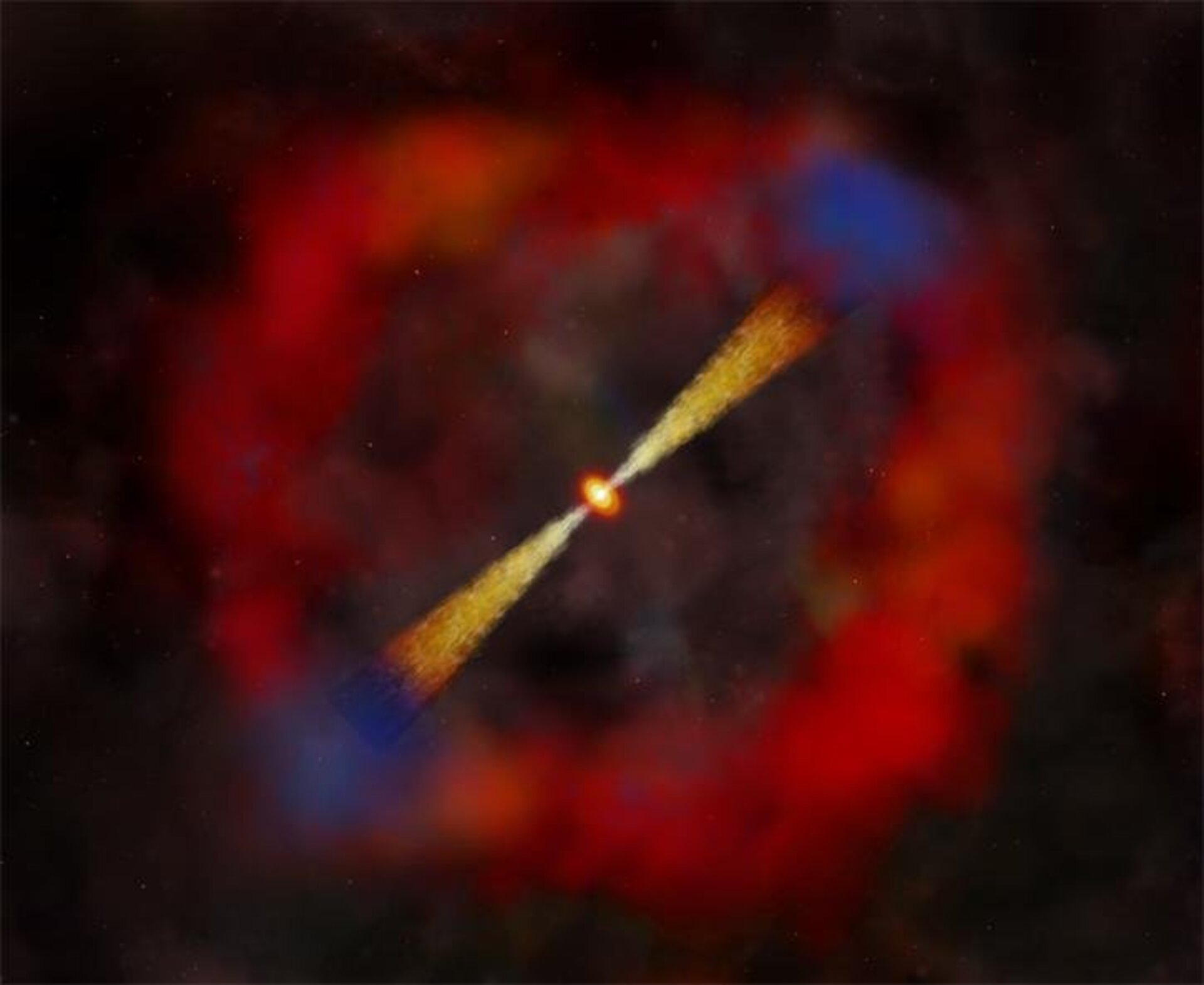 Artist impression of a low-energy gamma-ray burst