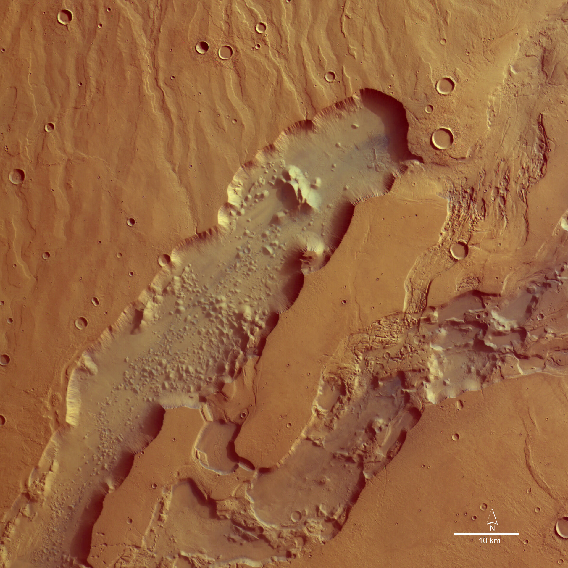 Colour image of Dao and Niger Valles