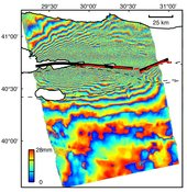 Izmit, Turkey 1999 Earthquake Interferogram