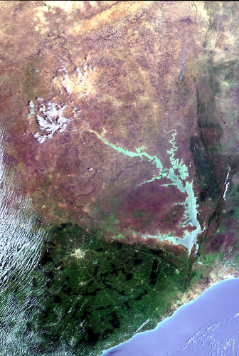 Lake Volta, Ghana  - MERIS - 12 February 2003