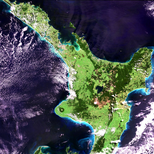 North Island, New Zealand - MERIS - 29 March 2004