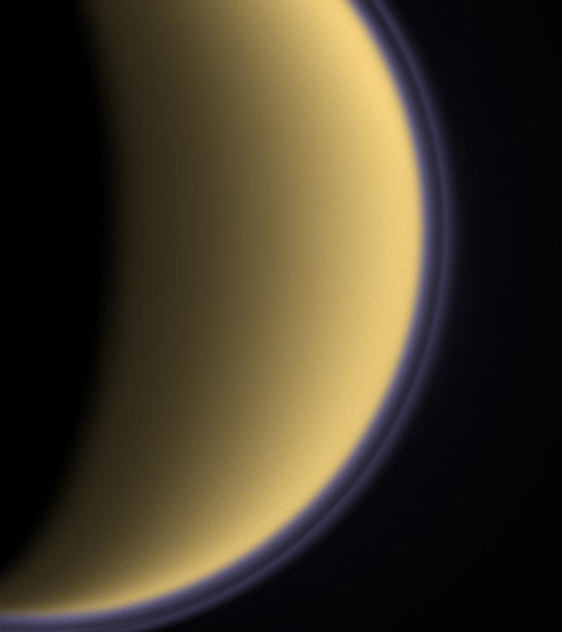Purple haze around Titan