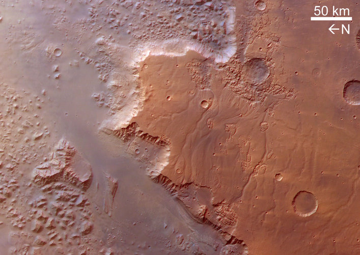 The southern part of Valles Marineris, called Eos Chasma