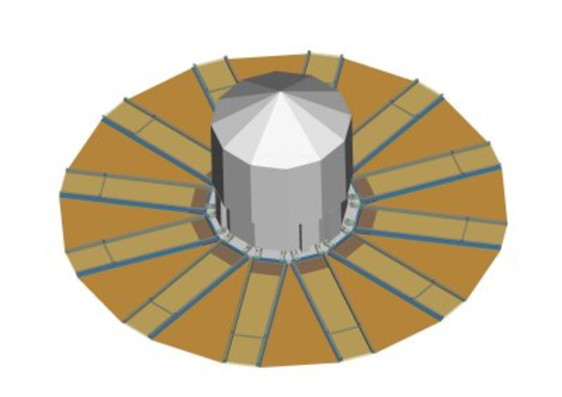 Artist's impression of Gaia's sunshield (deployed)