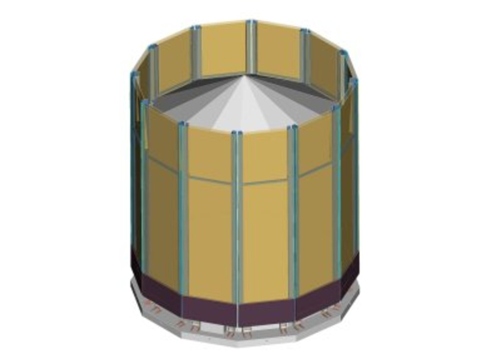 Artist's impression of Gaia's sunshield (stowed)