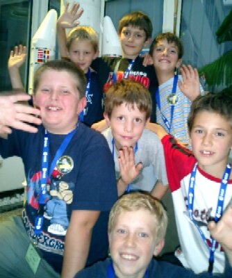 Children celebrating 10th birthday party at Long Night of the Stars