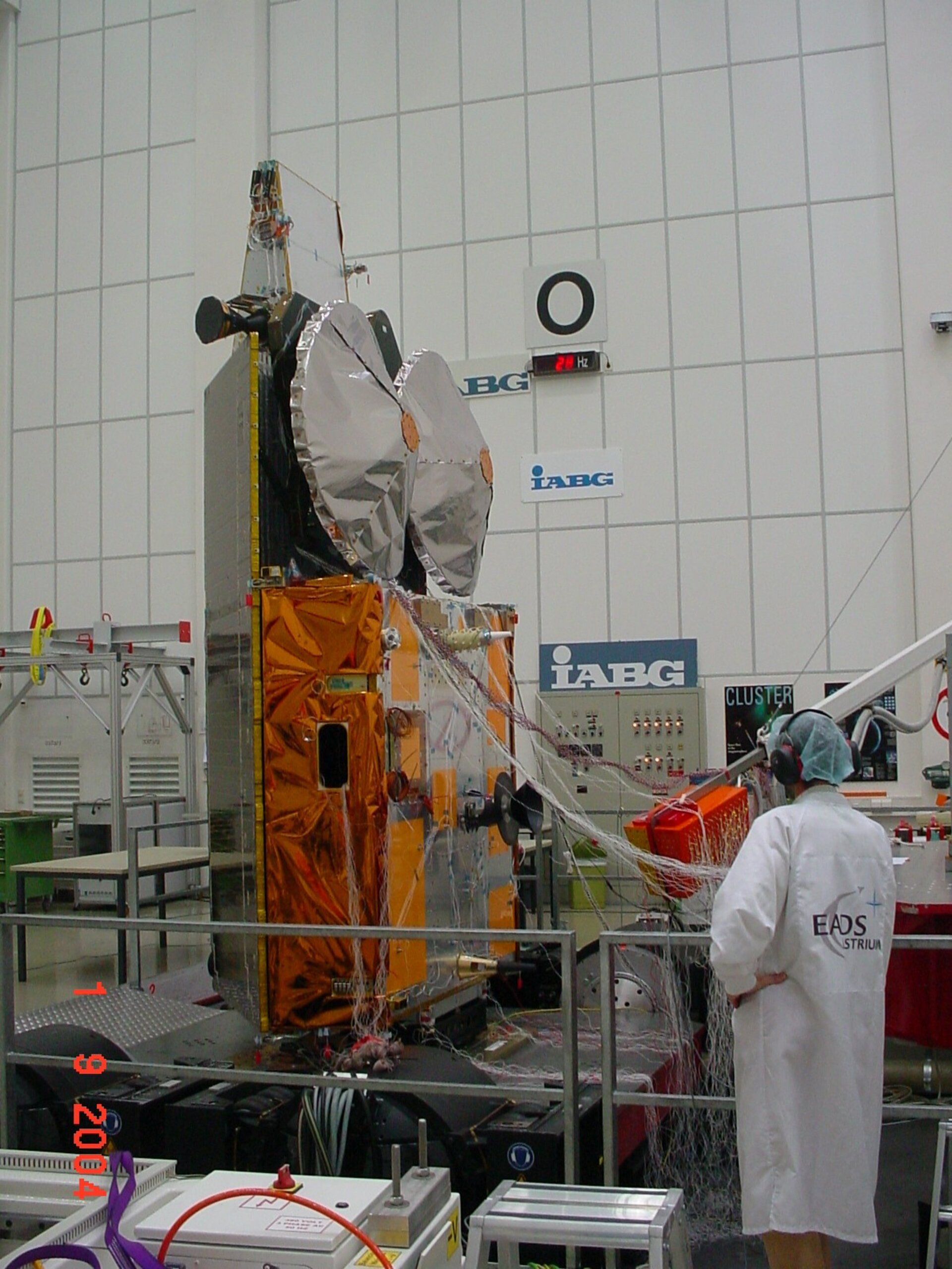 CryoSat undergoing vibration tests