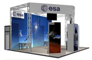 ESA stand at SatExpo 2004