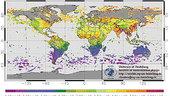 Atmospheric methane distribution