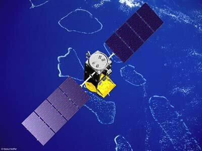 Artist impression of the first experimental Galileo satellite (GSTB-V2)