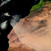 Meteosat-8 imagery of West African dust storm