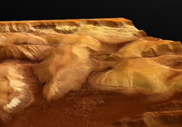 Perspective view of Ophir Chasma, looking north-east