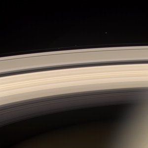 Saturn's rings - pretty in pink