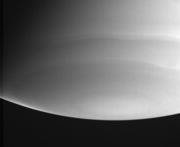 Ultraviolet view of Saturn's south pole