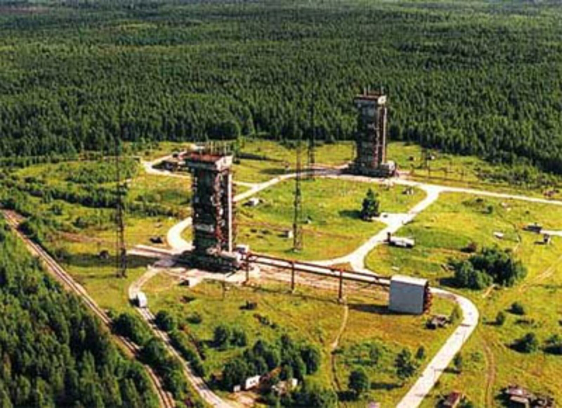 View of Plesetsk cosmodrome