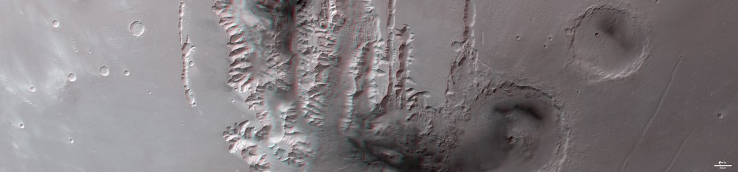 3D image of Tithonium Chasma