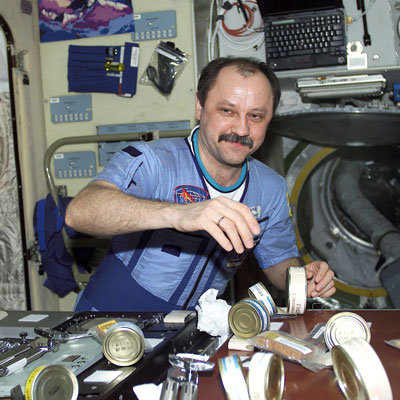 Food on board ISS