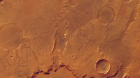 Huygens Crater Rim - 3-channels colour image