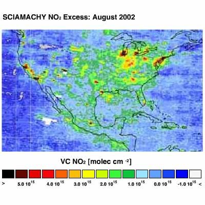 Esa Kort Over Den Globale Luftforurening