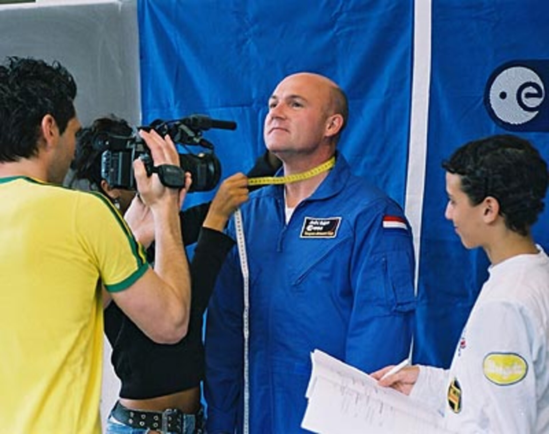 Scenes for ISS DVD Lesson II were filmed with André Kuipers