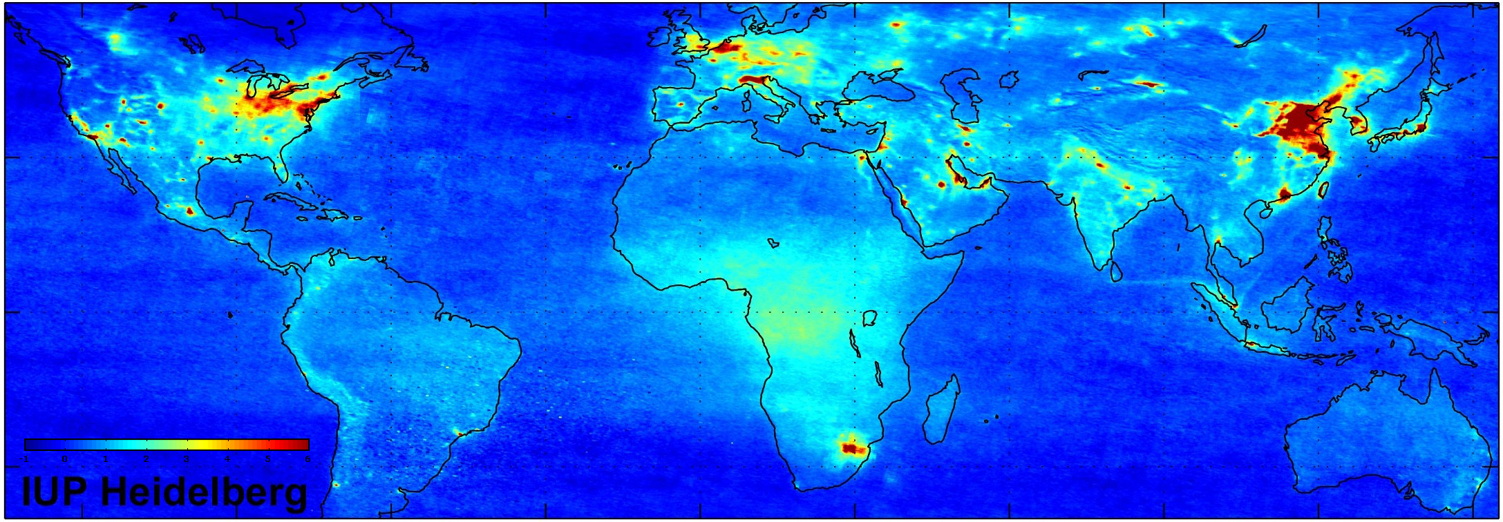 Space In Images Global Nitrogen Dioxide Pollution - Us pollution map